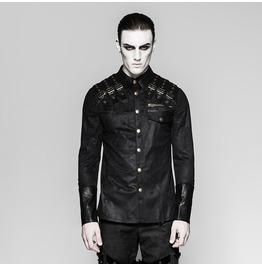 Punk Rave Men's Metal Punk Long Sleeved Shirt Y740