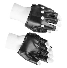 Punk Rave Men's Faux Leather Short Gloves S215