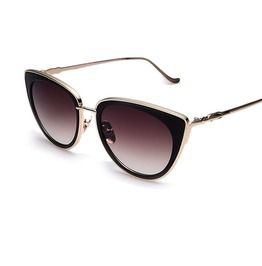 e7ab5bc4ea93 Metal Frame Cat Eye Vintage Classic Alloy Legs Sunglasses