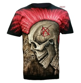 Punk Head All Over T Shirt/Gift/Rock/Goth/Horror/Anarchy/Skull/Biker