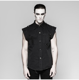 Punk Rave Men's Punk Denim Shirt Y762