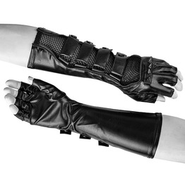 Punk Rave Men's Faux Leather Long Gloves S214
