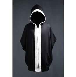 Flat Rope Decorated Boxy Fit Zip Up Hoodie
