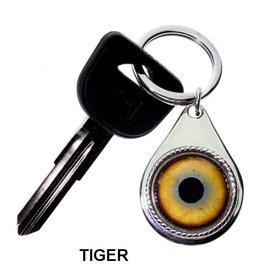 Animal Or Fantasy Glass Eye Key Chains | Create Yours From 21 Custom Eyes