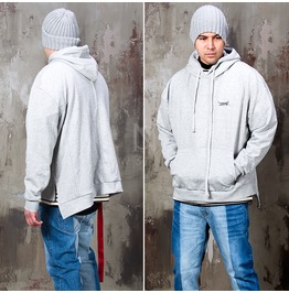 Strap Attached Side Incision Hoodie 134
