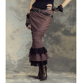 Victorian Steampunk Vintage Maxi Mermaid Long Skirt