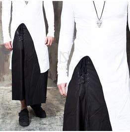 Eyelet Zipper Accent Ninja Vibe Black Sweatpants 250