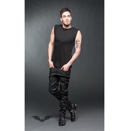 Black Used Look Pants