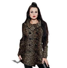 Double Breasted Leopard Pattern Jacket