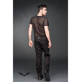 Trousers With Black Fake Leather Applications