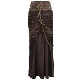Steampunk Slim Fit Pleated Links Chain Skirt