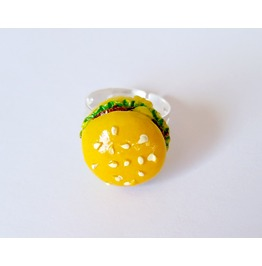 Cheeseburger Adjustable Ring