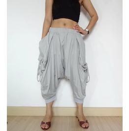 Smoked Gray Capri Mega Pockets Pants Unisex P68