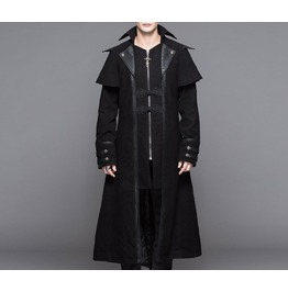 Gothic Men Fashion Long Coat Steampunk Casual Windbreaker Overcoat Punk Men