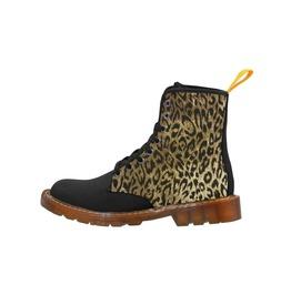 Leopard Print Gents Combat Boots