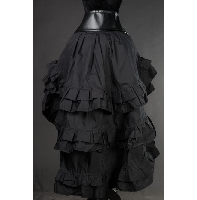 rebelsmarket_black_gothic_steampunk_short_front_long_back_ruffle_skirt_6_shipping_skirts_3.jpg
