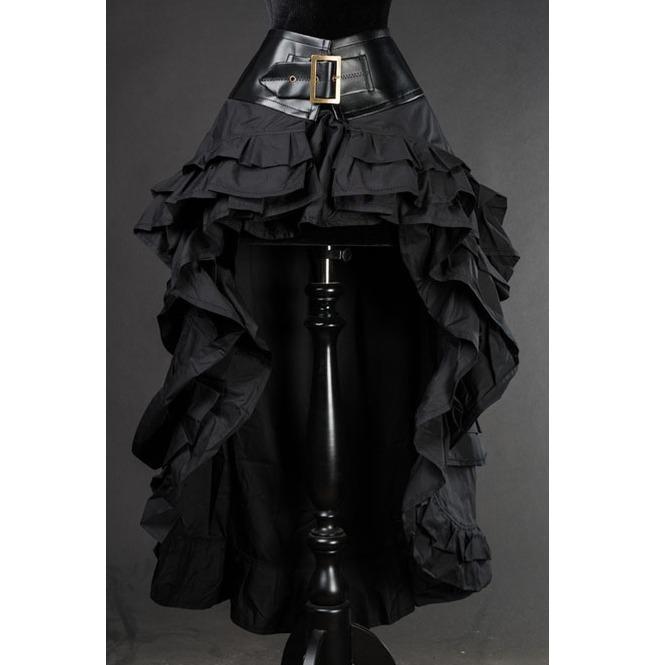 rebelsmarket_black_gothic_steampunk_short_front_long_back_ruffle_skirt_6_shipping_skirts_5.jpg