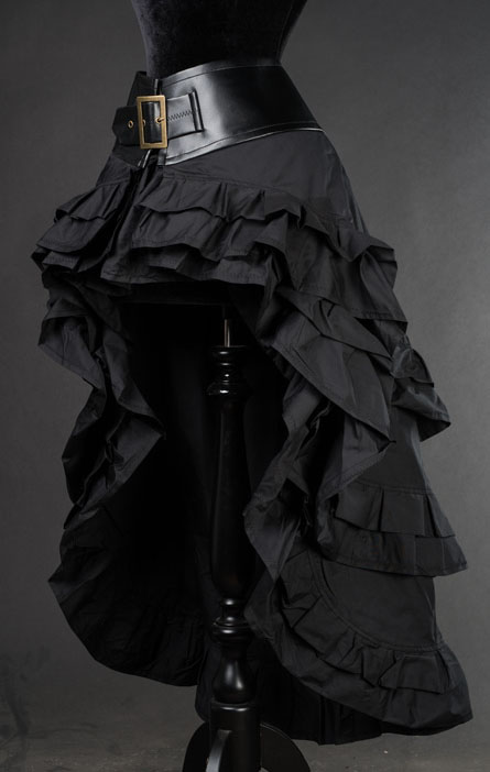 rebelsmarket_black_gothic_steampunk_short_front_long_back_ruffle_skirt_6_shipping_skirts_2.jpg