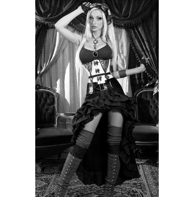 rebelsmarket_black_gothic_steampunk_short_front_long_back_ruffle_skirt_6_shipping_skirts_4.jpg