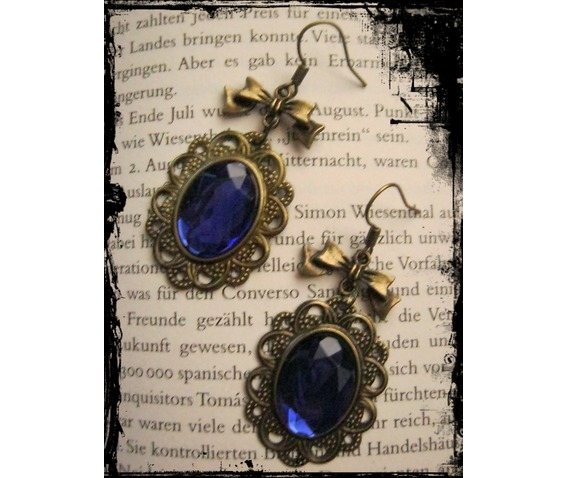 bronze_earrings_blue_stone_loop_earrings_2.JPG