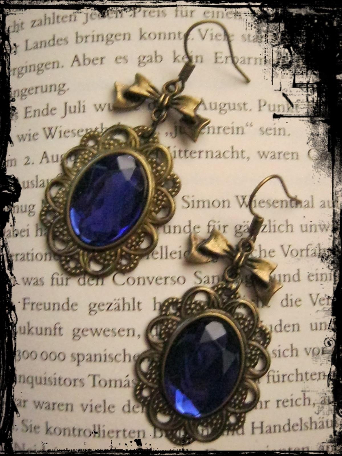 bronze_earrings_blue_stone_loop_earrings_2.JPG