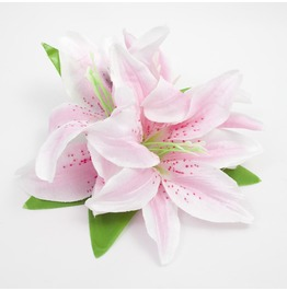 Triple Pink Lily Hair Flower