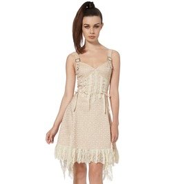Jawbreaker Clothing Women's Cream Victoriana Lace Dress