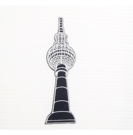 "Embroidered ""Berliner Fernsehturm Tower Berlín Germany"" Iron On Patch."