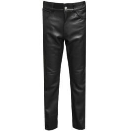 Unisex Slim Fit Real Nappa Sheep Leather Biker Trouser Pants Goth Emo Punk