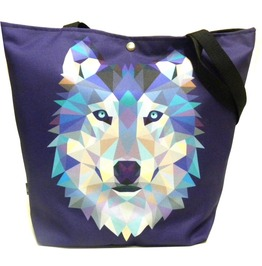 Magnetic Snap Fastener Bag With Wolf