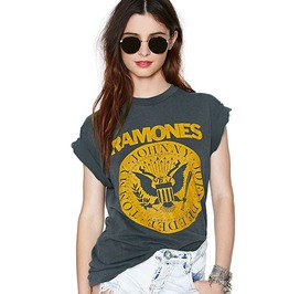 The Ramones Punk Rock Short Sleeves Cotton T Shirt Women