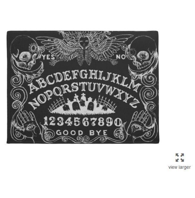 Ouija Board Black Area Rug Rebelsmarket