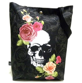Bag With Skull And Flowers