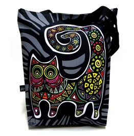Bag With Mexican Cat On Grey