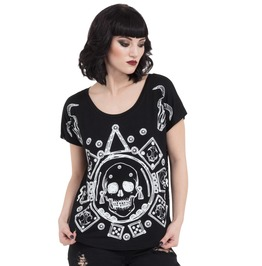 Jawbreaker Clothing Women's Black Mayan Calander Top