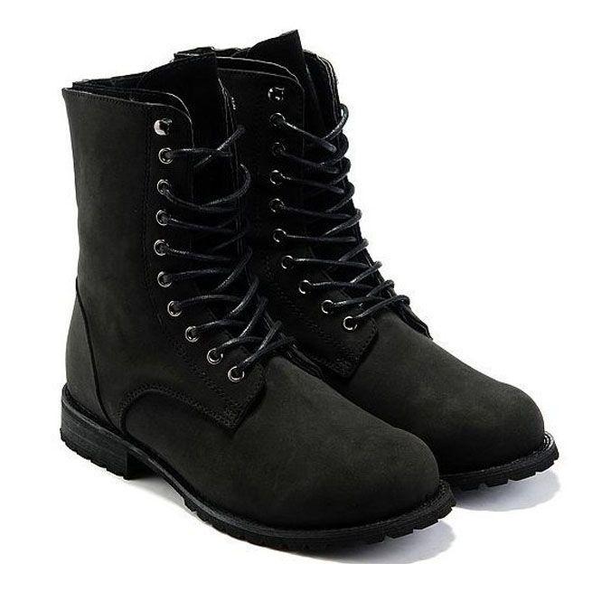 Black Retro Combat Boots | RebelsMarket