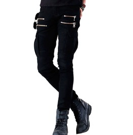 Army Style Cargo Pants Multi Pockets Skinny Biker Denim Jeans