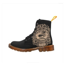 Ouija Mystic Eye Ladies Combat Boots