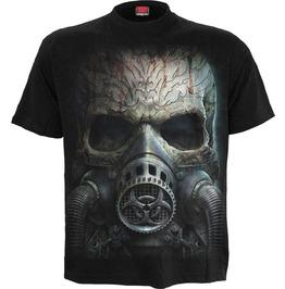 Men New Black Skull/Gas Mask T Shirt