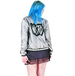 Silver Wasted Bomber Jacket