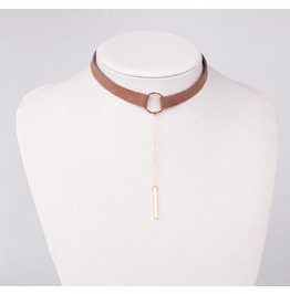 Women Gold Pendant Clavicle Choker Fashion Necklace 2 Colour Bz023