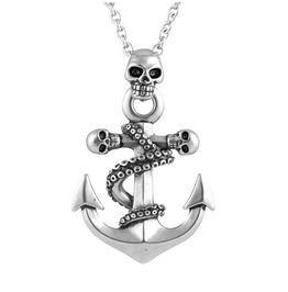 Octo Skull Anchor Necklace