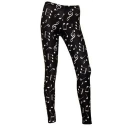 Women's Piano Musical Notes Symbols All Over Printed Fashion Leggings