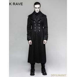 Black Gentleman Steampunk Stripe Long Coat For Men Y 742 Mbk St