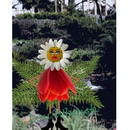 Daisy Flower Fairy Mixed Media