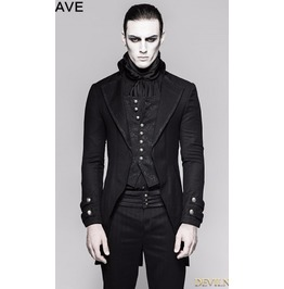 Black Gothic Gentleman Steampunk Fake Two Pieces Jacket For Men Y 750