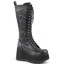 Demonia Scene 107 Skull Knee Vegan Gothic Punk Boots