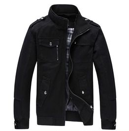 Streetwear Stand Collar Multi Pockets Zipper Jacket