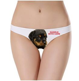 Rottweiler Puppy Underwear Handle With Care Rottweiler Undies