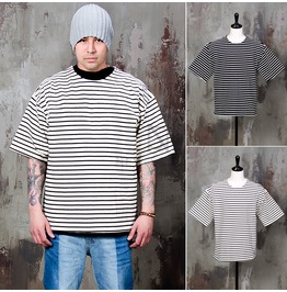 Sophisticate Stripe Boxy T Shirts 679